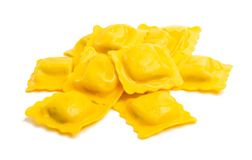 Square ravioli isolated royalty free stock images