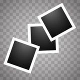 Square realistic polaroid royalty free illustration