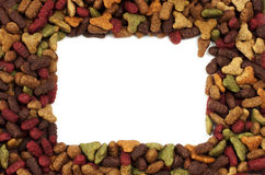 Square or rectangular frame of pet food for background use Royalty Free Stock Photos
