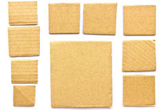 Square recycled paper Stock Image