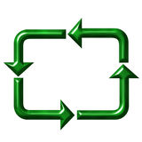 Square Recycling Symbol Royalty Free Stock Images