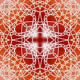 Square red fine patterned tile in art deco design Stock Images