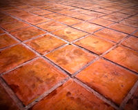 Square red tiles floor Royalty Free Stock Image