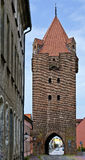 square redbrick medieval tower Royalty Free Stock Photos