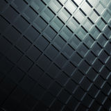 Square relief pattern on dark wall, 3d illustration Royalty Free Stock Images