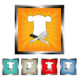Square restaurant buttons Royalty Free Stock Images