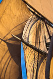 Square rig sails. Sails of a full rigged ship under sail stock photos