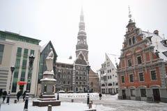 Square in Riga Stock Image