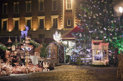 Square in Riga at christmas Stock Images