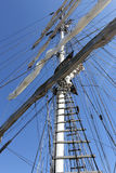 Square rigged mast Stock Image