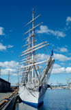 Square-rigger in Oslo. Square-rigger Christian Radich at the Akershus  quay in Oslo, Norway Royalty Free Stock Photography