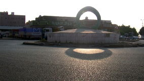 Square ring in the southern city of Jeddah in the morning Stock Photography