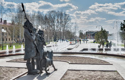 Square of Robinson Crusoe. Tobolsk. Russia Royalty Free Stock Images