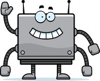 Square Robot Waving Royalty Free Stock Photography