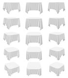 Square rounded tablecloth set Royalty Free Stock Image