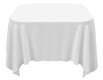 Square rounded tablecloth Royalty Free Stock Image