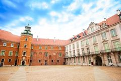 Square in Royal Castle, Warsaw Royalty Free Stock Images