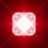 Square ruby glowing light flare Royalty Free Stock Photos