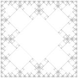 Square sacral geometry fractal structure background Stock Photo