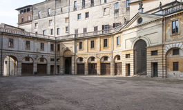 Square saint barbara mantua lombardy italy europe Stock Images