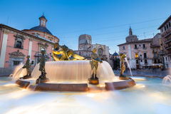 Square of Saint Mary's, Valencia, Spain. stock photo