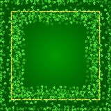 Square Saint Patricks Day background with clover stock photography