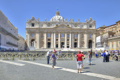 On the Square of Saint Peter. Vatican Royalty Free Stock Photos