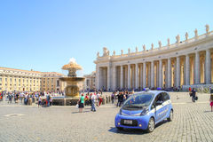 On the Square of Saint Peter. Vatican Stock Image