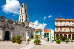 The square of San Francisco in Old Havana Royalty Free Stock Images