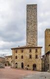 Square in San Gimignano, Italy Royalty Free Stock Photo