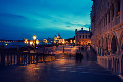 Square San Marco in the night Stock Images