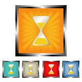 Square sand clock buttons Royalty Free Stock Photos