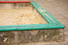 Square sandpit Stock Photo