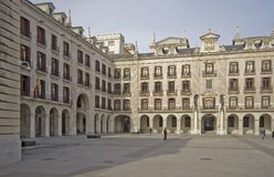Square of Santander, Spain. Plaza Porticada de Santander, Spain, Europe stock photo