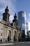 Square of Santiago de Chile stock image
