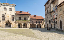 Square of Santillana del Mar Stock Photography