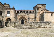Square of Santillana del Mar Royalty Free Stock Photography