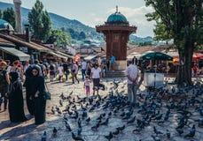 Square in Sarajevo Royalty Free Stock Photo