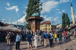 Square in Sarajevo Stock Photography