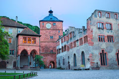Square of Schloss Heidelberg during evening time Royalty Free Stock Image