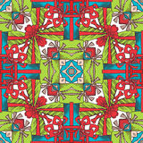 Square seamless Christmas pattern. Stock Photography