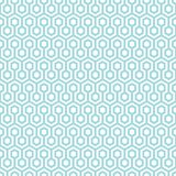 Seamless Pattern Abstract Honeycombs Blue And White royalty free illustration