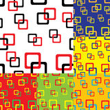 Square seamless pattern background. Easy color changes. Vector Stock Photos