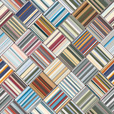 Square seamless pattern. Multicolor carpet of striped cloth. Square seamless pattern in ethnic style. Vector illustration Royalty Free Stock Photo
