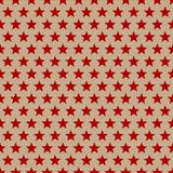 Seamless Pattern Red Stars On Brown Paper stock illustration