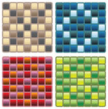 Square seamless patterns Stock Photography