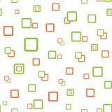 Square seamless texture green orange Royalty Free Stock Photography