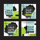 Square season online shopping website and mobile website banners Royalty Free Stock Images