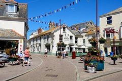 The Square, Seaton. Royalty Free Stock Photos
