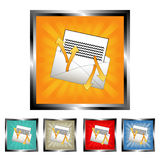 Square send-receive mail buttons Royalty Free Stock Images